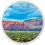 Painted New Mexico Round Beach Towel