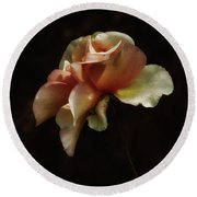 Painted Roses Round Beach Towel by Elaine Malott