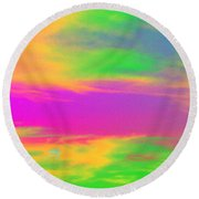 Painted Sky - Abstract Round Beach Towel