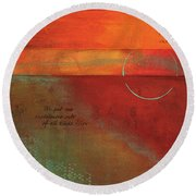 Painterly Round Beach Towel