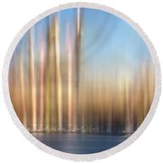 Painterly Scapes Round Beach Towel