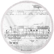 Painting And Lettering Diagramgp30 Round Beach Towel