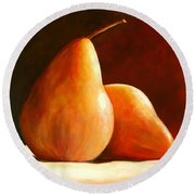 Pair Of Pears Round Beach Towel