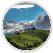 Paisaje Colombiano #2 Round Beach Towel