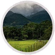 Paisaje Colombiano #7 Round Beach Towel