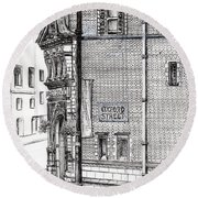 Palace Hotel Oxford Street Manchester Round Beach Towel