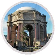 Round Beach Towel featuring the photograph Palace Of Fine Arts by Steven Spak