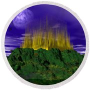 Palace Of The Moon Round Beach Towel by Mark Blauhoefer