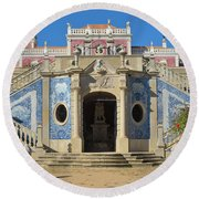 Palacio De Estoi Front View Round Beach Towel