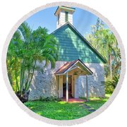 Palapala Ho'omau Congregational Church Round Beach Towel