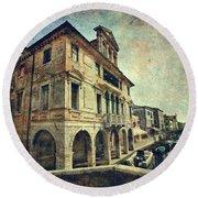 Palazzo Lisatti - Mascheroni Round Beach Towel by Vittorio Chiampan