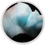 Pale Blue Gemstone Round Beach Towel