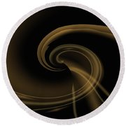 Pale Darkness - Abstract Round Beach Towel