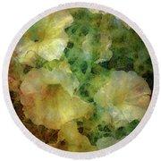 Pale Petunias 5146 Idp_2 Round Beach Towel