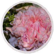 Pale Pink Carnation Round Beach Towel