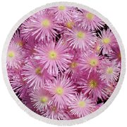 Pale Pink Flowers Round Beach Towel