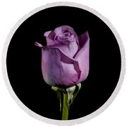 Pale Purple Rose Round Beach Towel