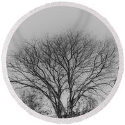 Pale Shades Round Beach Towel