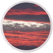 Round Beach Towel featuring the photograph Palm Desert Sunset by Phyllis Kaltenbach