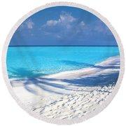 Palm Escape -  Part 3 Of 3 Round Beach Towel