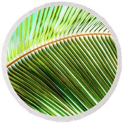 Palm Frond Sway Round Beach Towel
