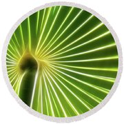 Palm Glow Round Beach Towel