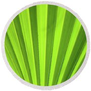 Palm Leaf Abstract Round Beach Towel