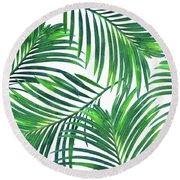 Palm Paradise Round Beach Towel