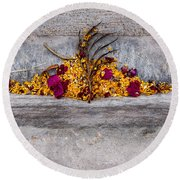 Palm Springs Gutterscape Round Beach Towel