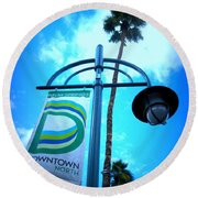 Palm Springs North Round Beach Towel