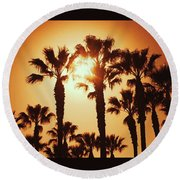 Palm Tree Dreams Round Beach Towel