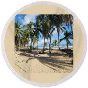 Palm Tree Family Round Beach Towel