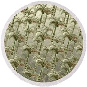 Palm Tree Grove Round Beach Towel