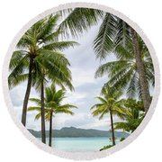 Palm Trees 1 Round Beach Towel