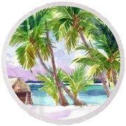 Palmerston, Cook Islands Round Beach Towel