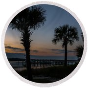 Palmetto Sky Round Beach Towel
