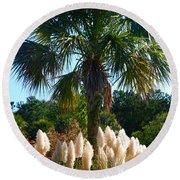 Palmetto Tree  Round Beach Towel