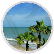 Palms At Vero Beach Round Beach Towel