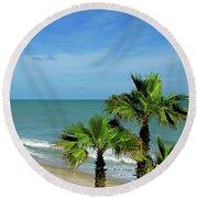 Palms At Vero Beach Round Beach Towel