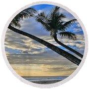 Palms Of Kaanapali Round Beach Towel