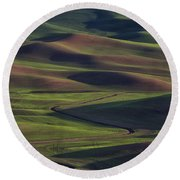 Palouse Abstract 1 Round Beach Towel