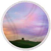 Palouse Cirrus Rainbow Round Beach Towel