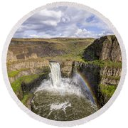 Round Beach Towel featuring the photograph Palouse Falls by Albert Seger