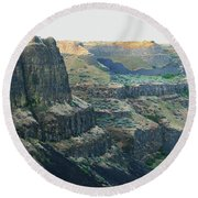 Palouse River Canyon Buttes Round Beach Towel