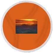 Palouse Sunrise  Round Beach Towel