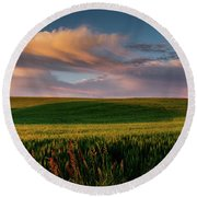 Palouse Tree Of Life Round Beach Towel