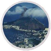 Pan De Azucar - Rio De Janeiro Round Beach Towel