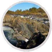 Pan Of The Potomac Round Beach Towel