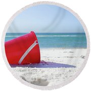 Panama Beach Florida Sandy Beach Round Beach Towel