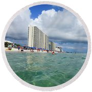 Panama City Beach Florida - II Round Beach Towel by Tony Grider